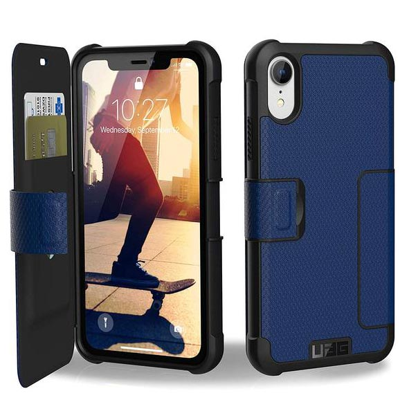 blue folio case for iphone xr from uag australia.