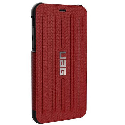 buy folio case for iphone xr red colour from uag australia. comes with free express Australia shipping & local warranty, shop online at syntricate and enjoy afterpay payment with interest free.
