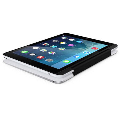 ClamCase Pro Keyboard Case for iPad 4/3/2 - Silver/White