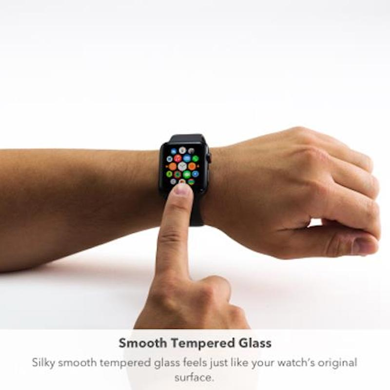 Zagg Invisible Shield Glass Curve Elite Tempered Glass Screen Protector For Apple Watch Series 3 Australia Stock