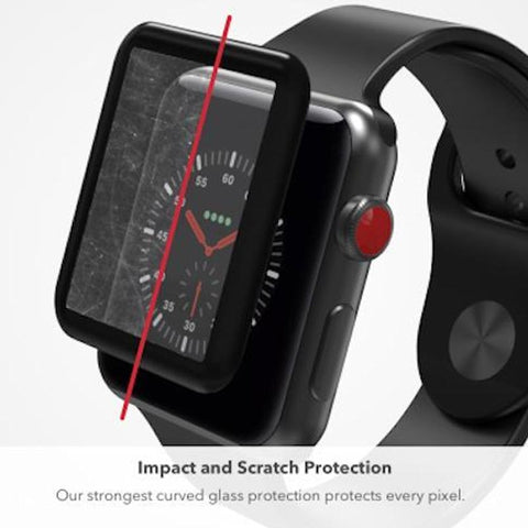 zagg invisible shield glass curve elite tempered glass screen protector for apple watch series 3 (42mm) Australia