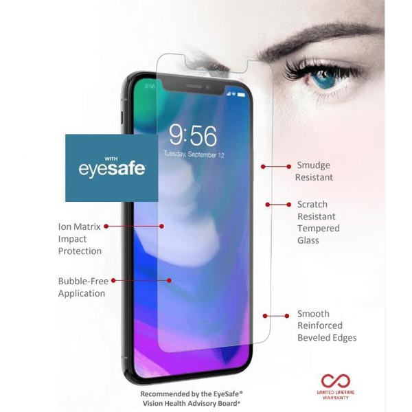 watch 6cd61 d2c71 ZAGG INVISIBLESHIELD GLASS PLUS VISIONGUARD SCREEN PROTECTOR FOR IPHONE XS  MAX - ANTI BLUE LIGHT CLEAR