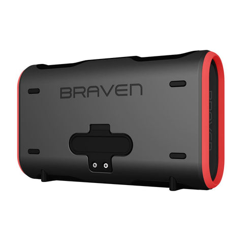 BRAVEN STRYDE XL PORTABLE BLUETOOTH WATERPROOF SPEAKER - GREY/RED