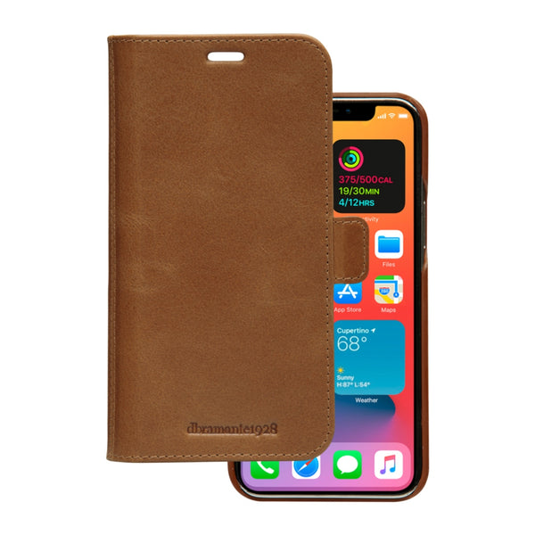DBRAMANTE1928 Lynge Full-Grain Leather Folio Case For iPhone 12 Pro/12 (6.1