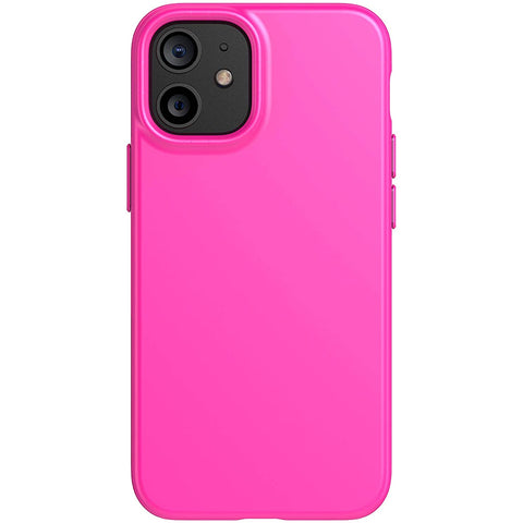 don't worry about scratches from dropping! protect your iphone 12 mini with tech21 origininal pink case with anti microbial technology