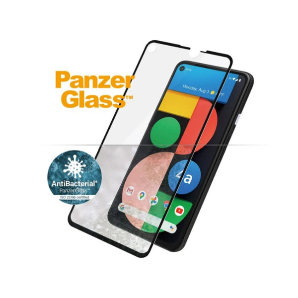antibacterial screen protector for google pixel 4a 5g. dont worry about bactery or viruses, panzerglass tempered glass can protect your google pixel 4a 5g safe