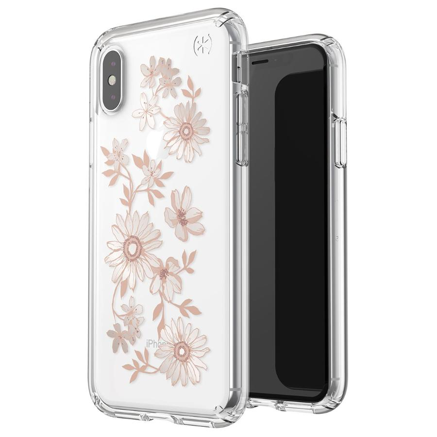 21bbf2c786 Speck Presidio Clear + Print Case For Iphone Xs/x - Floral Peach Gold/