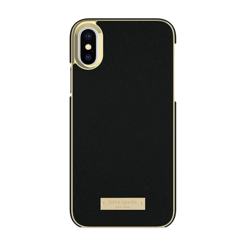 kate spade new york wrap case for apple iphone x saffiano black colour