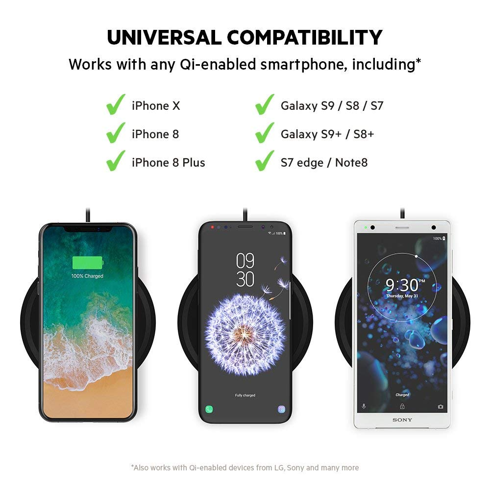 Shop Australia stock BELKIN QI BOOST UP BOLD WIRELESS 10W CHARGING PAD FOR IPHONE/SAMSUNG/LG/SONY- BLACK with free shipping online. Shop Belkin collections with afterpay Australia Stock