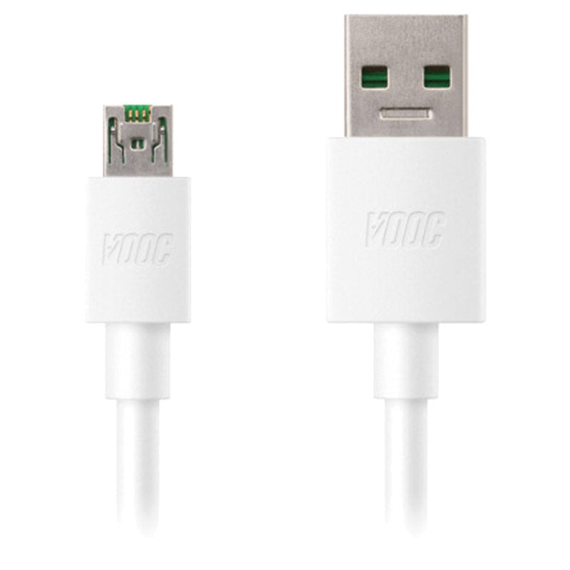 OPPO VOOC FLASH CHARGE/SYNC 1M MICRO USB CABLE - WHITE DL118 Australia Stock