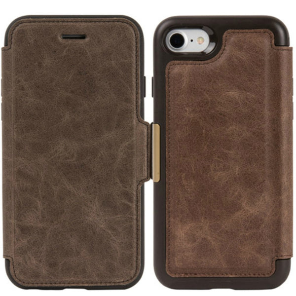 buy original otterbox strada leather card folio case for iphone 8/7 espresso free shipping australia