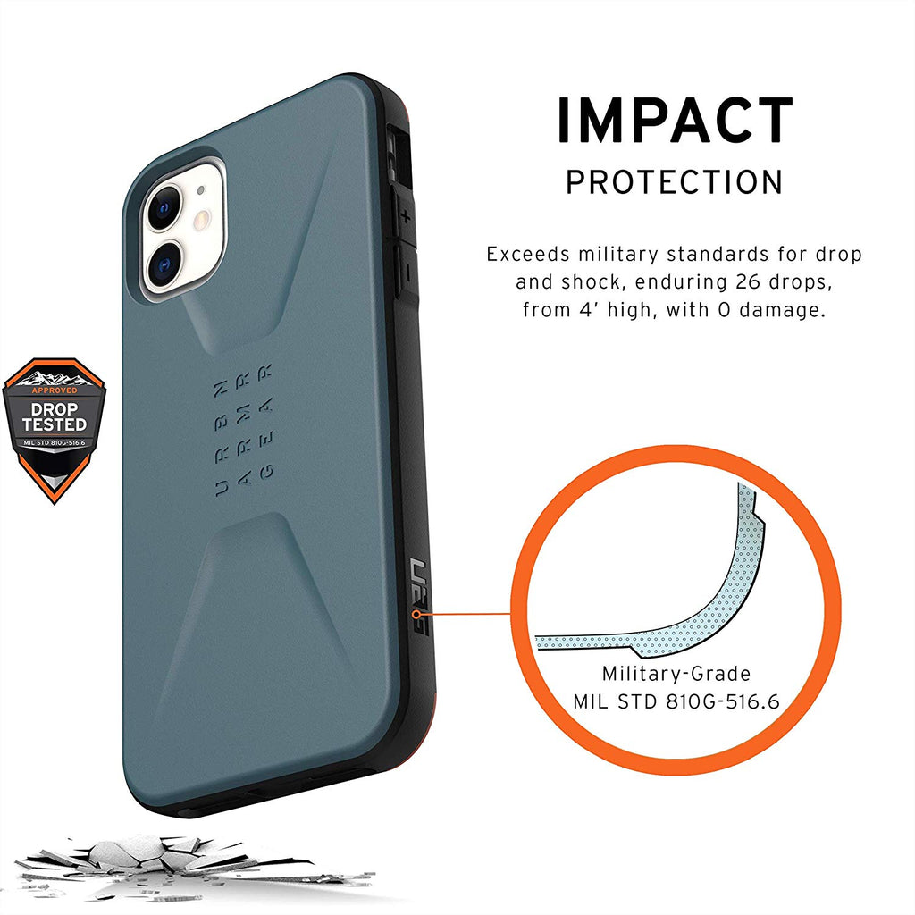 "Shop Australia stock UAG Civilian HoneyComb Core Case for iPhone 11 (6.1"") - Slate with free shipping online. Shop UAG collections with afterpay Australia Stock"