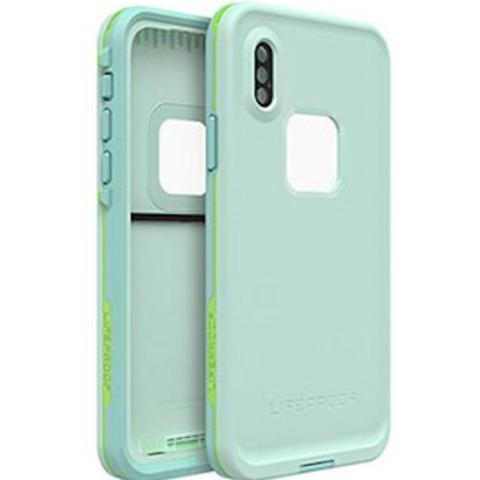 back front view of fre waterproof case green mint colour from lifeproof Australia Stock