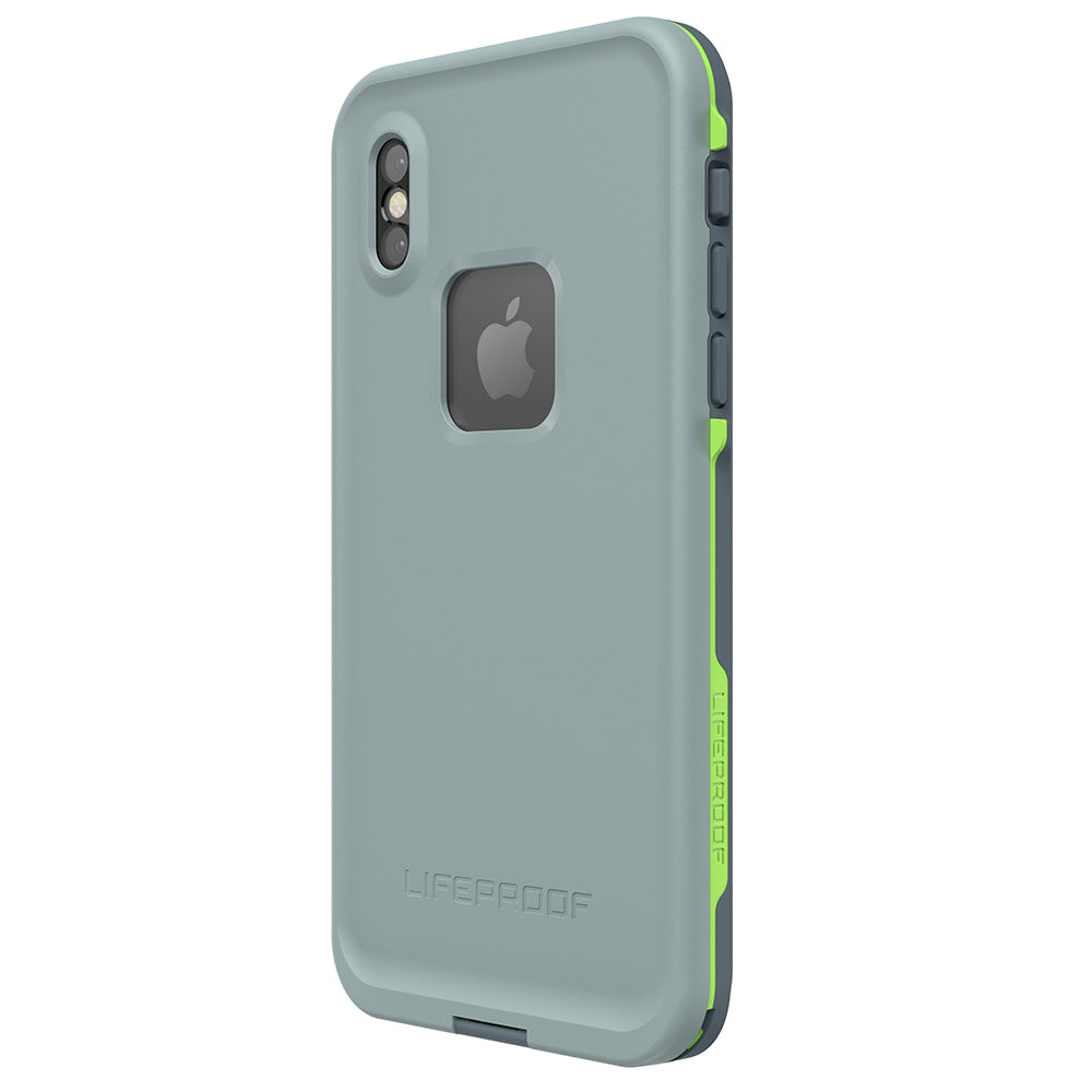 back side with button view of iphone x waterproof case from lifeproof australia Australia Stock