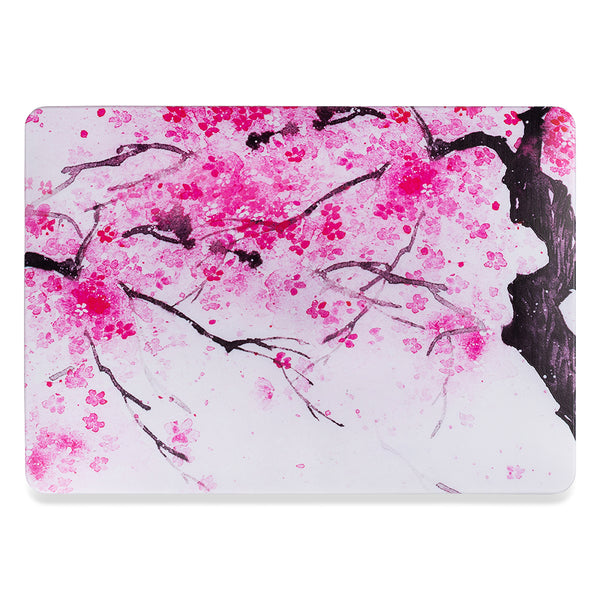 Macbook pro 16 hardshell cover with cherry blossom design from flexii gravity Comes with free express Australia shipping & local warranty.