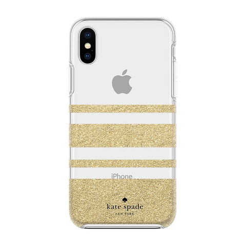 Shop Australia stock KATE SPADE NEW YORK PROTECTIVE HARDSHELL CASE FOR IPHONE XS MAX - STRIPE GOLD GLITTER with free shipping online. Shop Kate Spade New York collections with afterpay