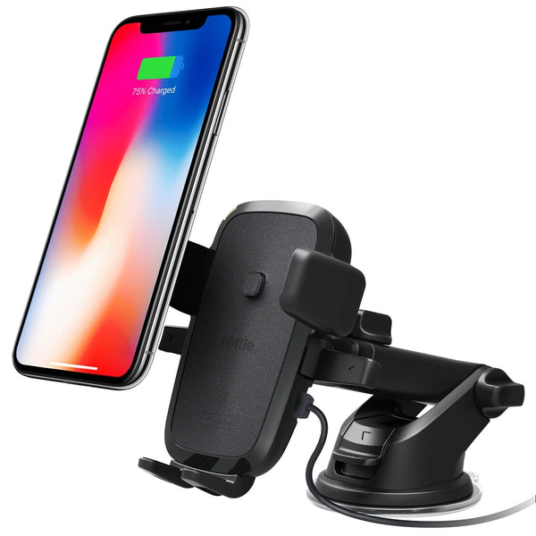 IOTTIE EASY ONE TOUCH 4 WIRELESS FAST CHARGE CAR MOUNT FOR IPHONE X/8/8 PLUS/ GALAXY S8/S8 PLUS/NOTE 8/S7/S7 EDGE