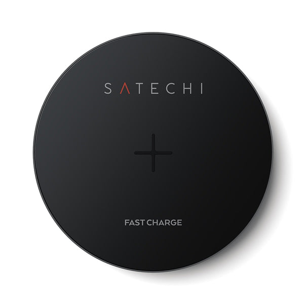 SATECHI ALUMINUM WIRELESS FAST CHARGING PAD - SPACE GREY