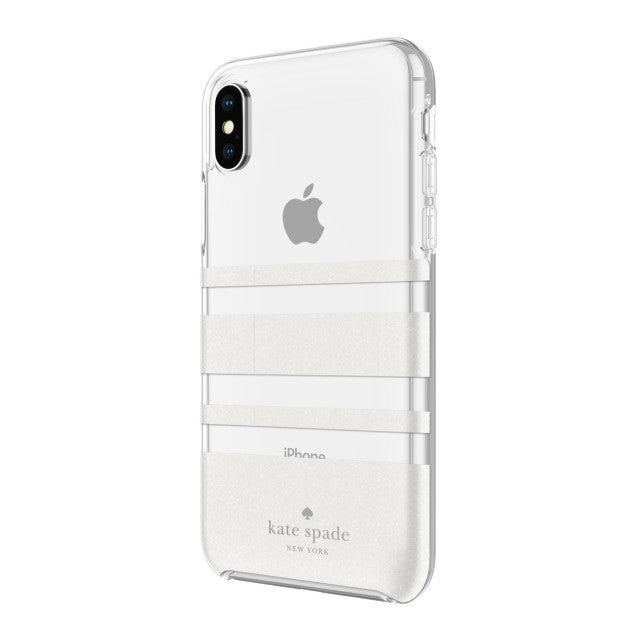 Shop Australia stock KATE SPADE NEW YORK PROTECTIVE HARDSHELL CASE FOR IPHONE XS/X - CHARLOTTE STRIPE WHITE GLITTER/CLEAR with free shipping online. Shop Kate Spade New York collections with afterpay Australia Stock