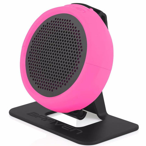 Braven 105 Portable Wireless Compact Speaker [WaterProof] - Raspberry