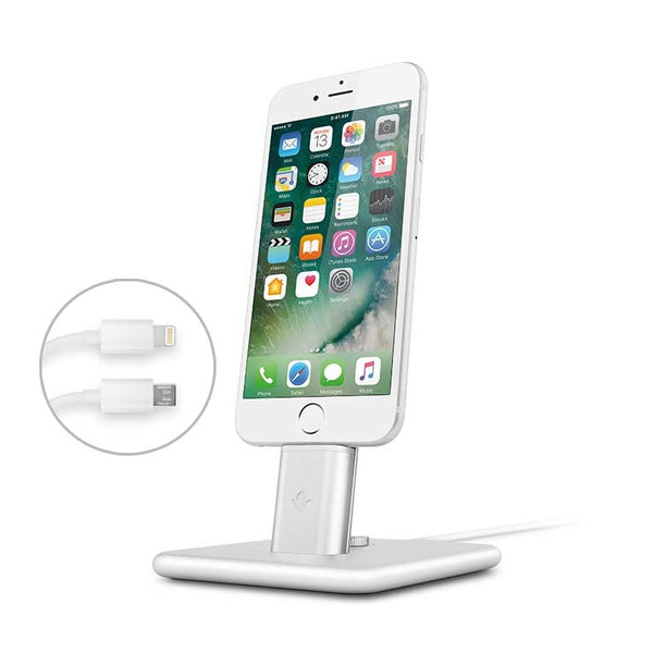 Twelve South HiRise Deluxe 2 charging stand Dock for iPhone & iPad - Silver