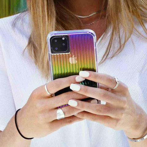 enchance your iphone 11 pro style with this casemate rainbow case