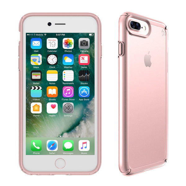grab it fast speck presidio show impactium case for iphone 8 plus/7 plus -clear/rose gold colour syntricate Australia