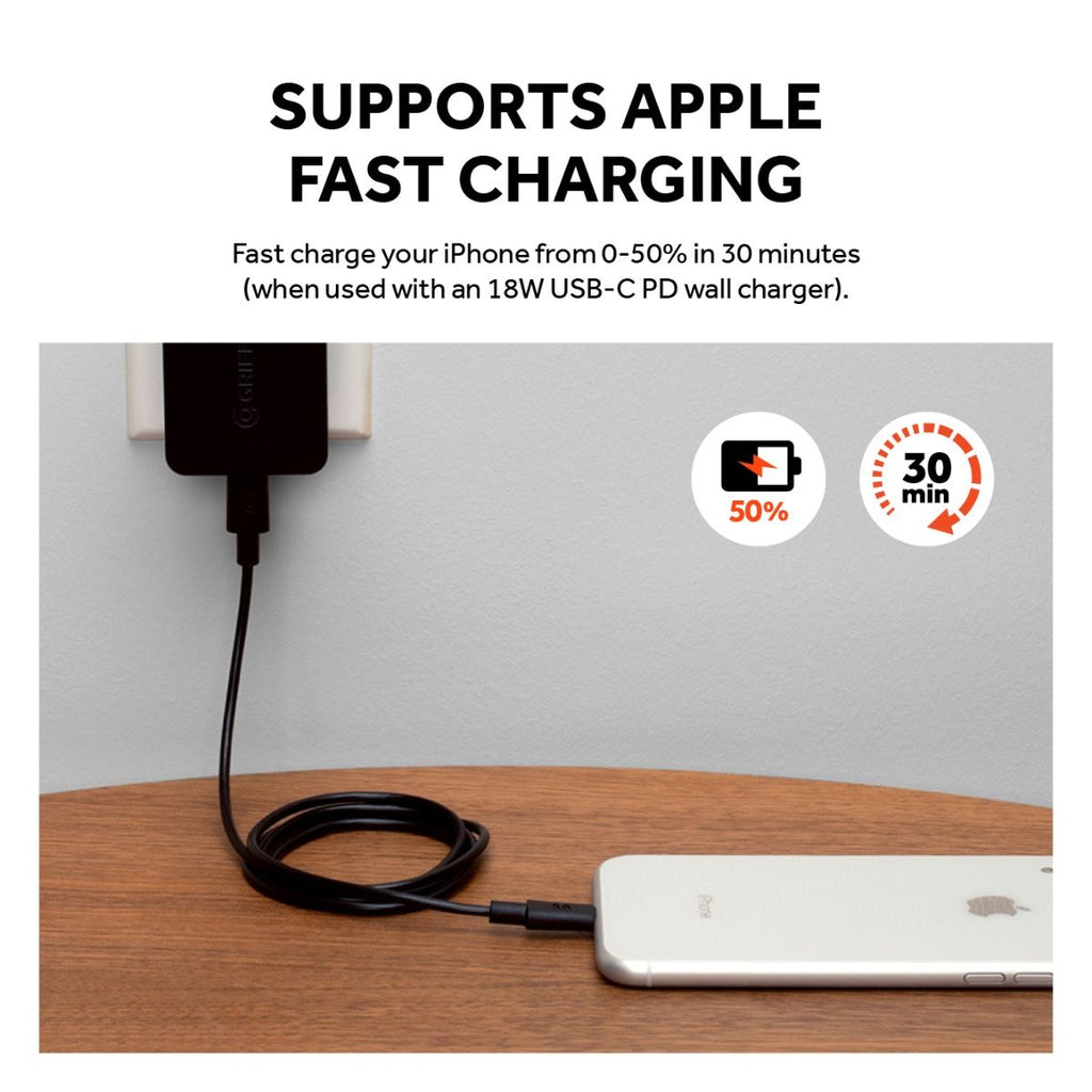 Shop Australia stock GRIFFIN USB-C TO LIGHTNING CABLE (3FT/0.91 METER) - BLACK with free shipping online. Shop Griffin collections with afterpay Australia Stock