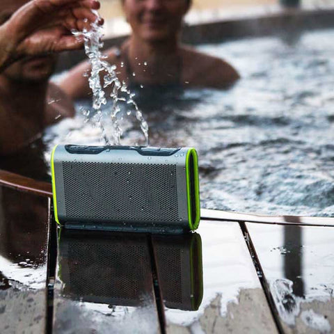 BRAVEN STRYDE PORTABLE BLUETOOTH WATERPROOF SPEAKER - GREY/RED