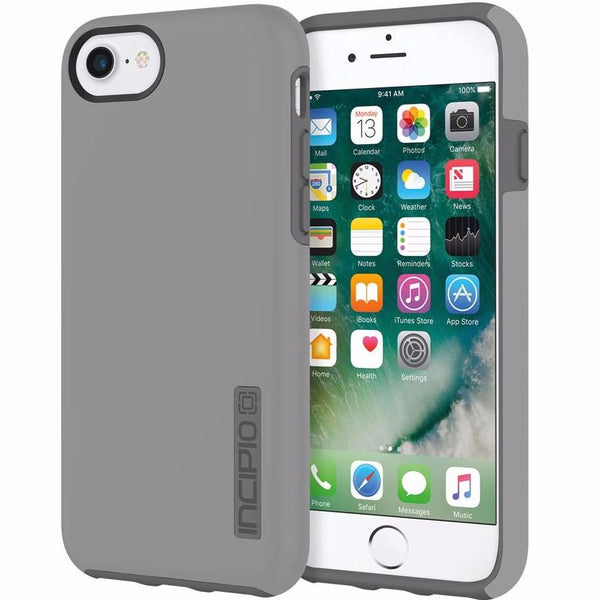 buy genuine and original Incipio DualPro shock-absorbing Plextonium Case for iPhone 8/7/6s/6 - Gray free shipping australia wide