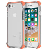 Incipio Reprieve [Sport] Rugged Case for iPhone 8/7 - CORAL/CLEAR