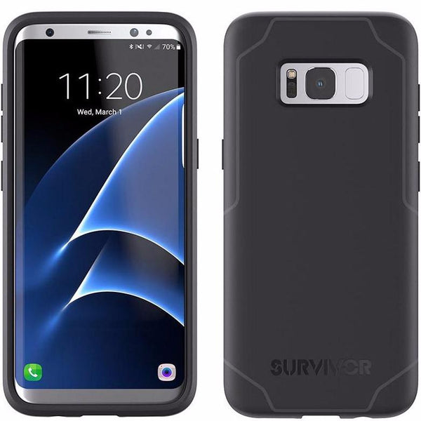 buy genuine from authorized official griffin survivor strong tough slim case for galaxy s8+ (6.2 inch) black/grey free shipping australia