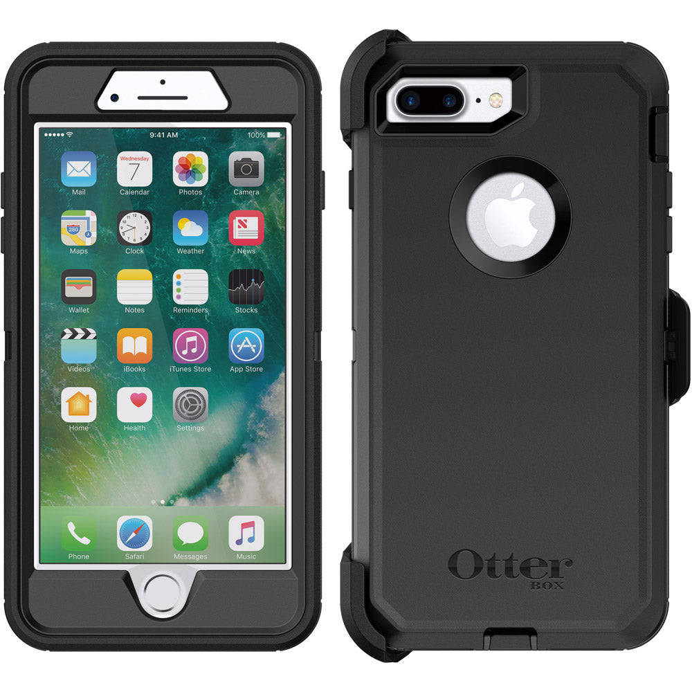 hot sale online e3010 fcf7e Otterbox Defender Rugged Case for iPhone 8 Plus/7 Plus - Black