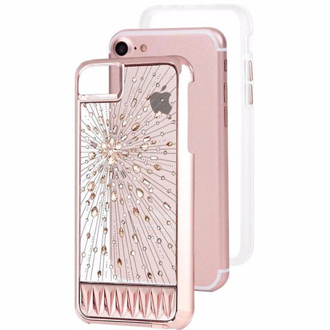 CASEMATE LUMINESCENT LIGHT UP CRYSTAL CASE FOR IPHONE 8/7/6S -ROSE GOLD