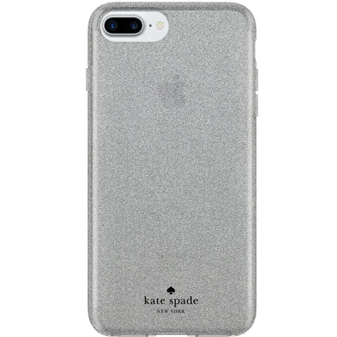 KATE SPADE NEW YORK FLEXIBLE GLITTER CASE FOR iPHONE 8 PLUS/7 PLUS - SILVER