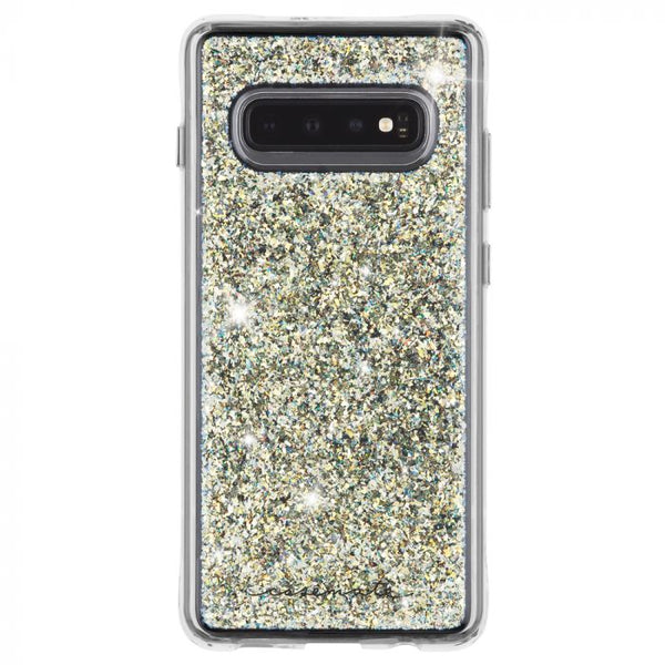 SAMSUNG GALAXY S10 gold glitter case with free shipping. Premium casemate case