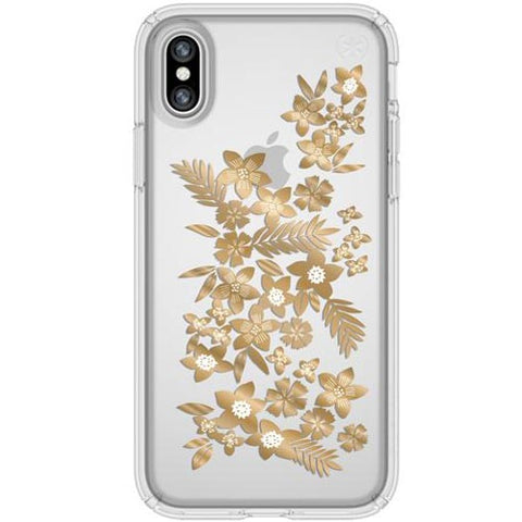 Best price online for flower gold iPhone XS / iPhone X speck presidio case australia stock