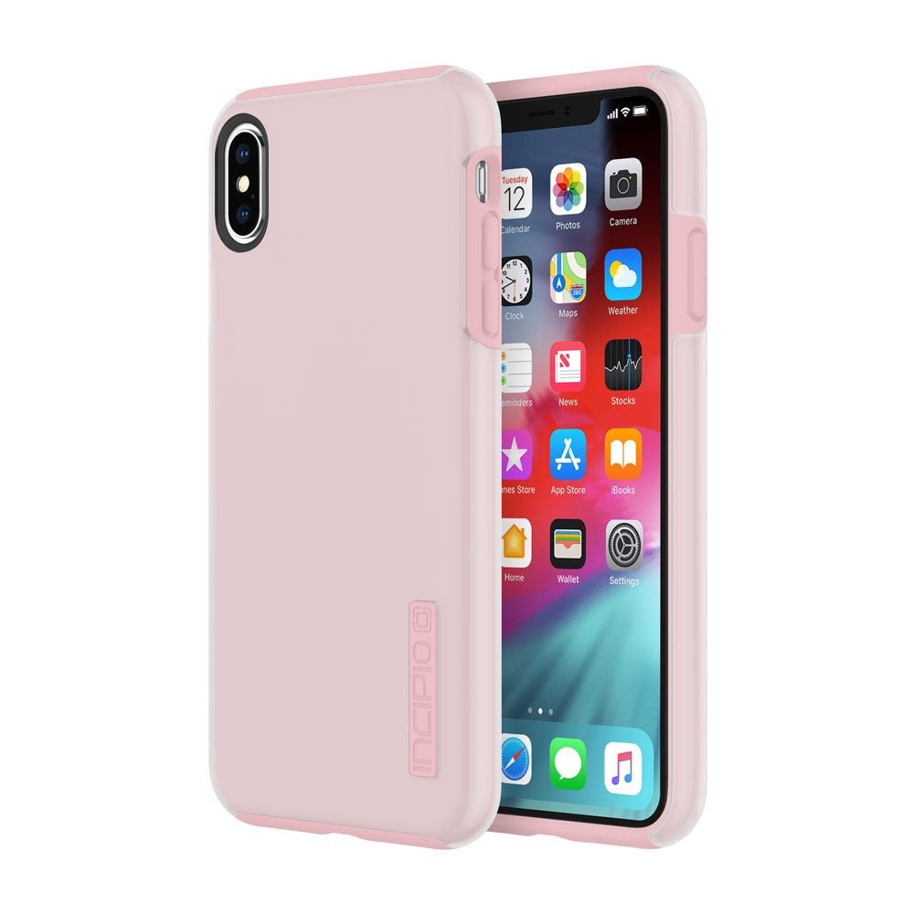 pink stylish case for iPhone XS Max from Incipio Dual pro. Woman style case with free shipping Australia Stock