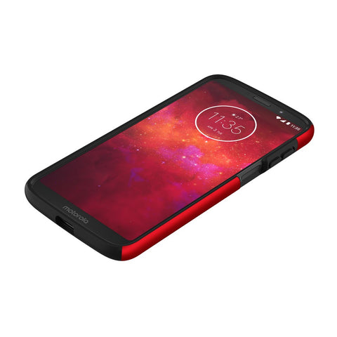Incipio Dualpro Dual Layer Protective Case For Moto Z3/Z3 Play - Red/black