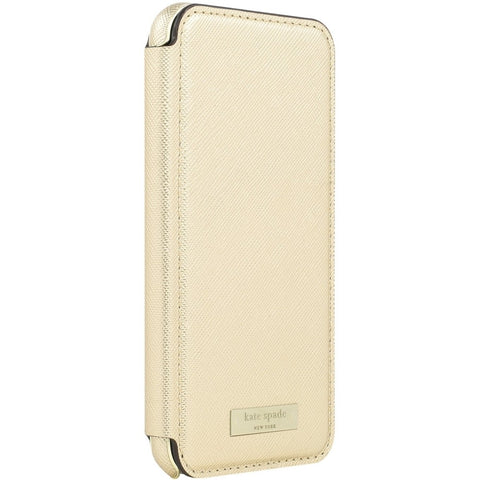 Kate Spade New York Card Folio Case for iPhone 8/7 - Saffiano Gold