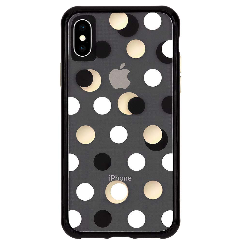 black gold dotted style case for iPhone XS Max Australia local stock free shipping from Casemate Australia Stock