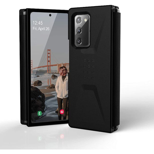Best rugged case for Galaxy Z Fold2 5G  with black minimalist design, comes with free shipping. Stay protected and safe.