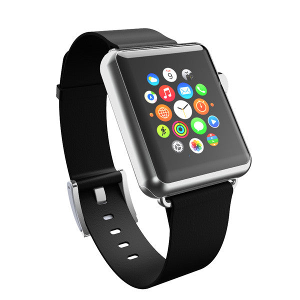 Incipio Premium Leather Band for Apple Watch 42mm - Ebony