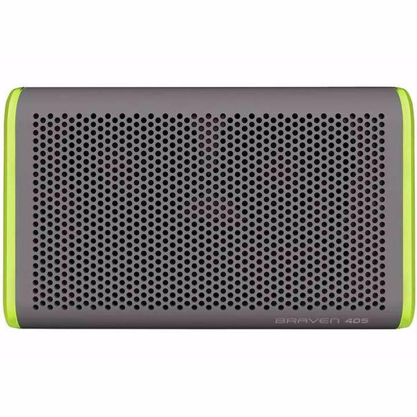 buy original Braven 405 Wireless Portable Outdoor Bluetooth Speaker [Waterproof] - Silver/Green australia