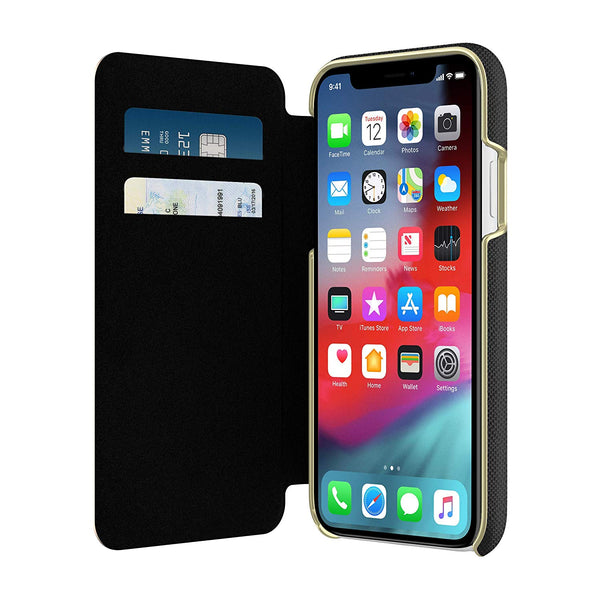 folio case for iphone xr with card slot colour black from kate spade australia