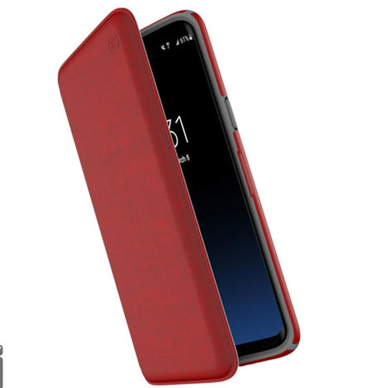 Speck Folio Case For Galaxy S9 Heathered Red/grey Australia Stock