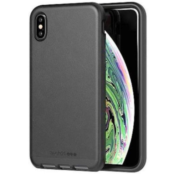 Grab it fast EVO LUXE FAUX LEATHER FLEXSHOCK CASE FOR IPHONE XS MAX - BLACK FROM TECH21 with free shipping Australia wide.