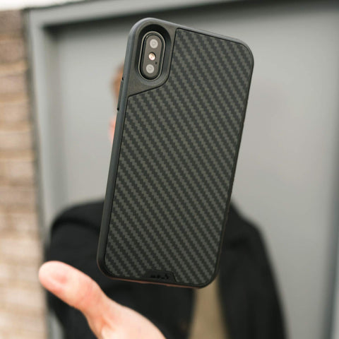 carbon style case for iPhone Xs & iPhone X from Mous