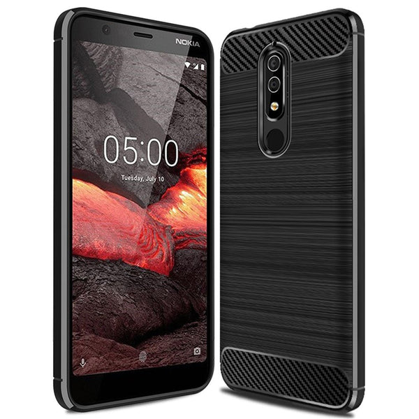 black case for nokia 5.1 from flexi australia