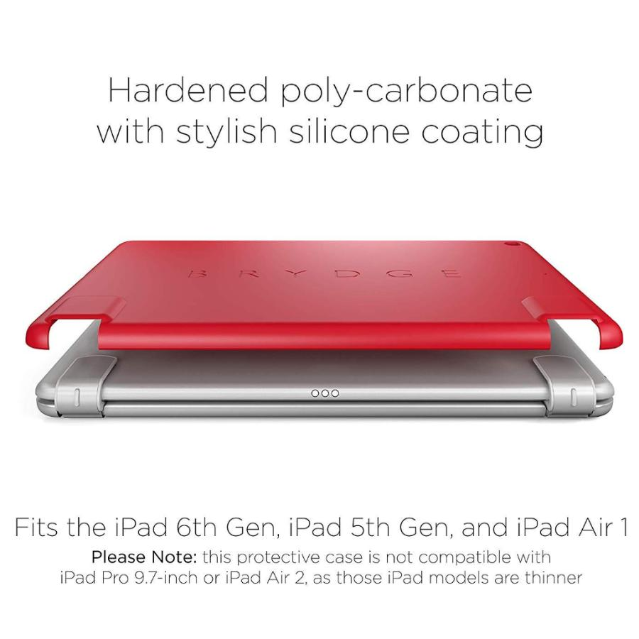 Place to buy SLIMLINE PROTECTIVE CASE FOR iPAD 9.7 (6TH/5TH GEN) - RED FROM BRYDGE online in Australia free shipping & afterpay. Australia Stock